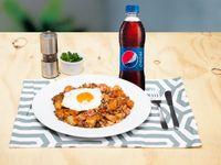 Calentao Carne + Gaseosa Pet 400ml