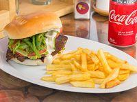 Combo - Churrasco Italiano Sensei + papas fritas individual + bebida 350 ml