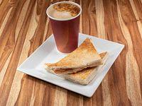 Sándwich miga + café mediano