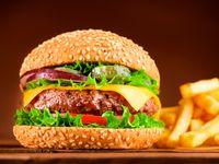 Burger La Herradura Blue + Papas + Gaseosa