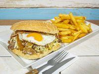 Promo - Churrasco ranchero + papas fritas chicas