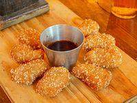 Crocantes de pollo (8 unidades con salsa barbacoa)