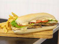 Promo - Sándwich de pollo argentino + papas fritas