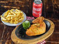 Combo 3 - 1/4 pollo + acompañante + chimichurri + Coca Cola en lata