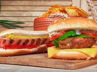 2x1 Hamburguesa de carne + Perro ranchero + Gaseosa 250 ml