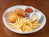 Chicken Alfredo Pizza Fritta