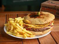 Promo 4 - Baurú con papas fritas + Ppesi 500 ml