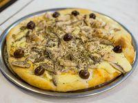 Pizza con champiñón fresco