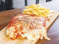 Milanesa napolitana con papas fritas o mixtas (para compartir)