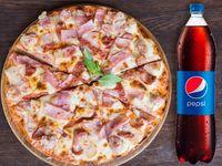 Pizza 8 Porciones Combinada + Gaseosa 1,5 Lt