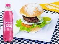 Hamburguesa Original + Manzana Postobon 250ml