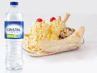 Banana Grande AcompañAda De Botella De Agua Cristal