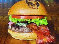 The Rolling Burger + Papas Chips + Gaseosa o Té Helado