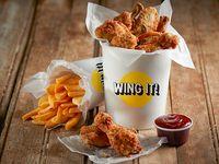 Combo 3 - Bucket wings (16 unidades) + 2 acompañamientos + 2 bebidas 350 ml