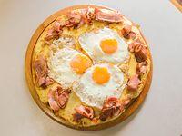 Pizzeta grande con muzzarella + 3 gustos