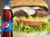 Hamburguesa con Wakamole + Porción de Nachos con Wakamole + Pepsi 250 ml