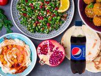 Arabe Vegetariano + Bebida Postobón