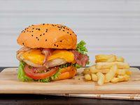 Burger Chicken BBQ en Combo 20% Descuento