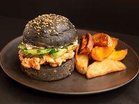 Burger salmón y tinta