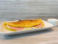 Cachapa de queso llanero y jamón