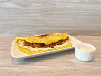 Cachapa de queso llanero y chorizo