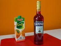 Combo - Campari 750 ml + jugo Baggio de naranja 1 L