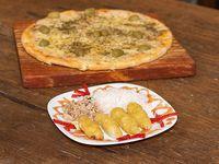 Nuevo Combo 3Pizzas Muzzarella Gdes mas 2 Yakimeshi de pollo