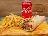 Promo 1 Shawarma de Lomo+ Papas Fritas + Lata de Gaseosa 354ml
