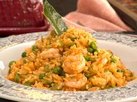 Arroz con Camarones + Jugo Natural de 16 Oz