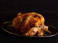 Pollo al spiedo con guarnición