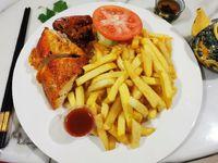 1-4 Pollo frito con papa
