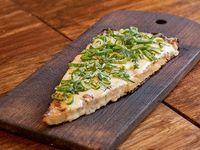 45 - Fainá con mozzarella y verdeo