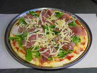 18 - Pizza de rúcula y jamón crudo