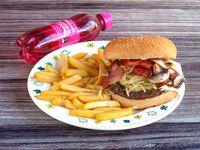 Hamburguesa Especial de Carne en Combo