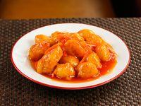 Pollo frito con salsa agridulce (plato grande)