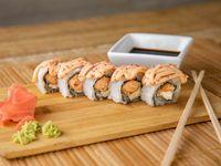 Salmón crunch roll