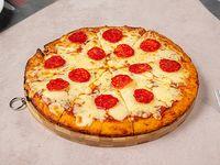 Pizzeta muzzarella con pepperoni