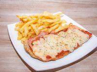 1 - Milanesa napolitana con papas fritas