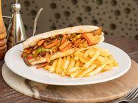 Panini vegertariano + fritas