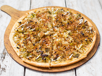 Pizza pupurra individual
