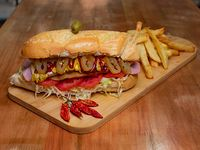 Sándwich de Milanesa con Pickles