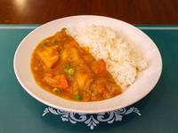 Curry rice con vegetales