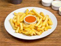 Porción de papas fritas + salsa a elección