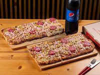 Promo 4 - Metro de muzzarella con 3 gustos + Refresco Pepsi 1.5 L o Cerveza Patricia 1 L