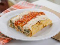 Menú - Canelones de acelga y carne con salsa