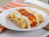 Menú - Canelones de jamón y muzzarella con salsa