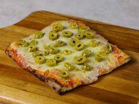 Pizza muzzarella con gusto (porción)