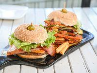Promo - 2 hamburguesas completas + papas fritas