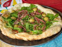 Pizza con rúcula y jamón crudo chica