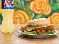 Combo 2 - Sándwich de milanesa de carne o pollo + Pulp 500 ml